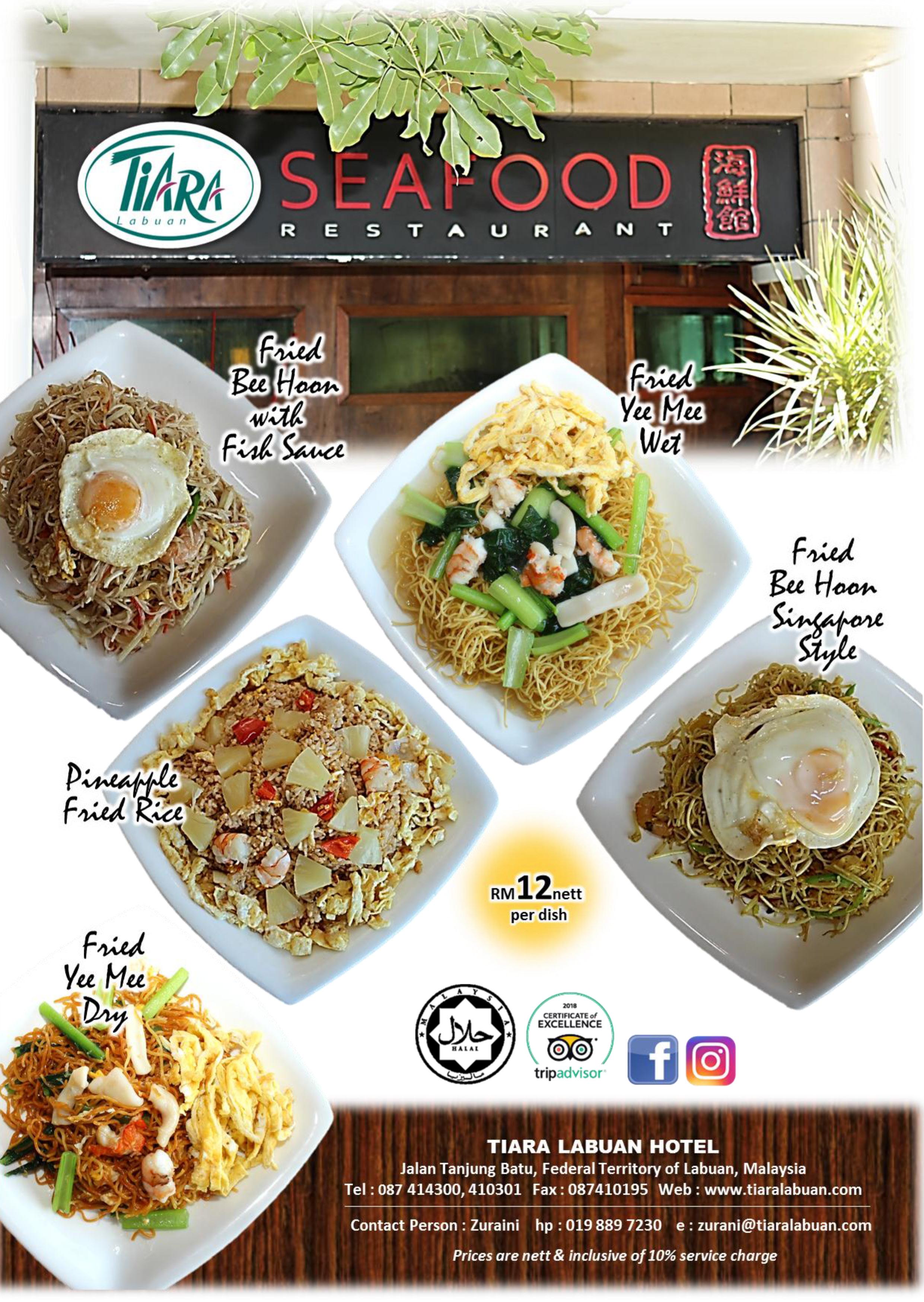 Noodle promotion seafood restaurant